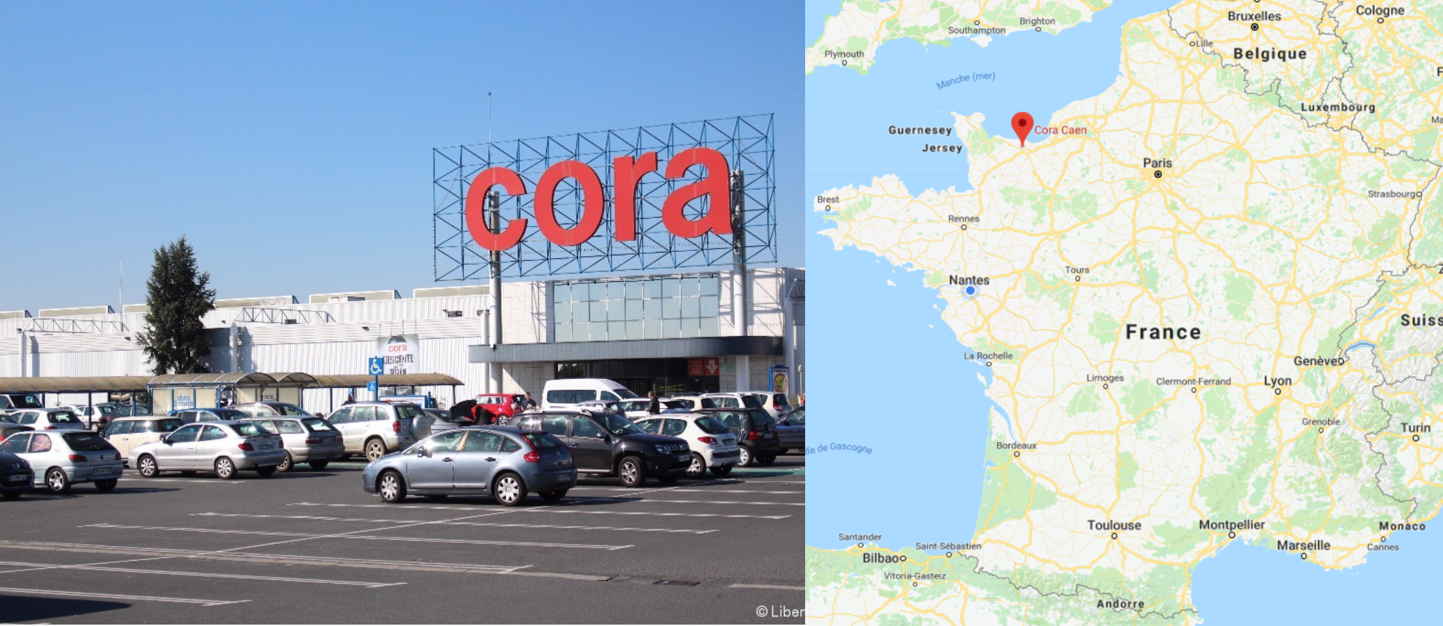 Centre commercial Cora Caen