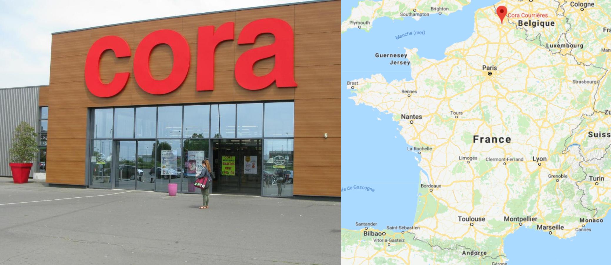 Centre commercial Cora Courrières
