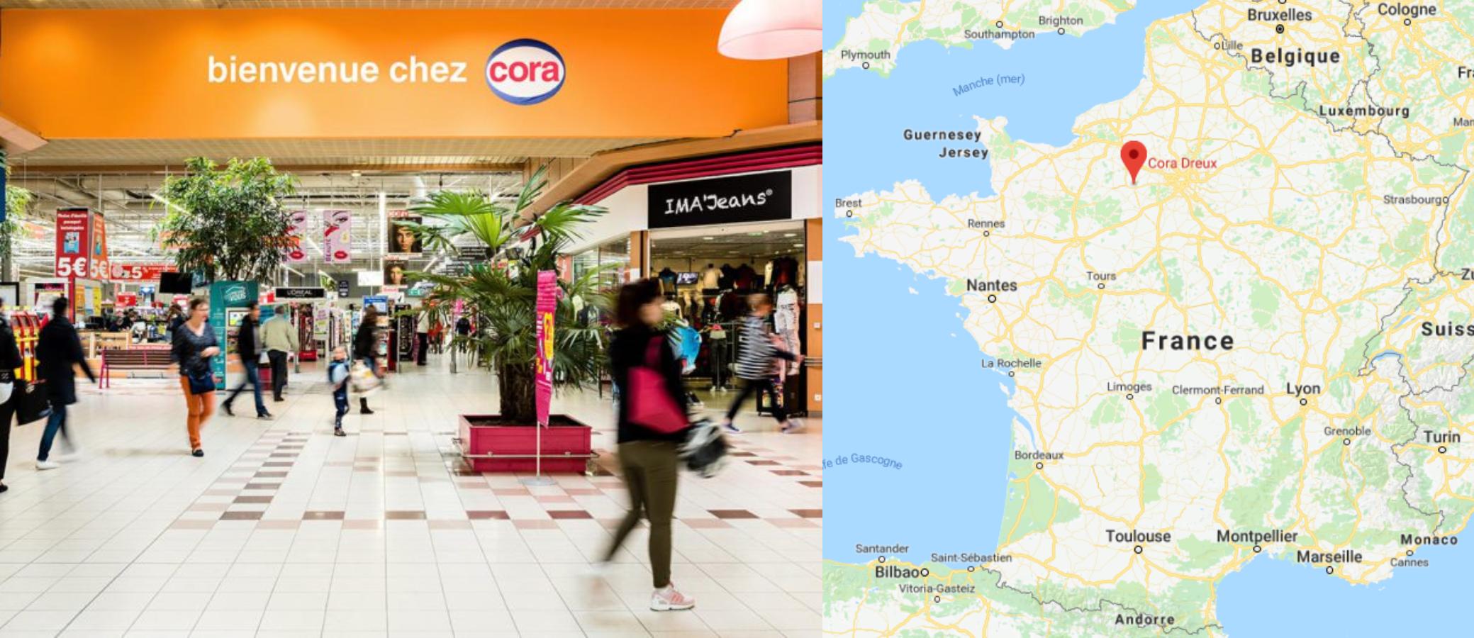 Centre commercial Cora Dreux