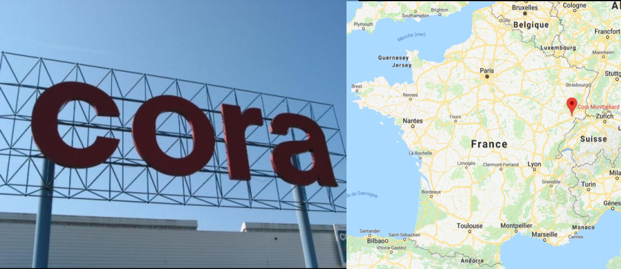 Centre commercial Cora Montbéliard