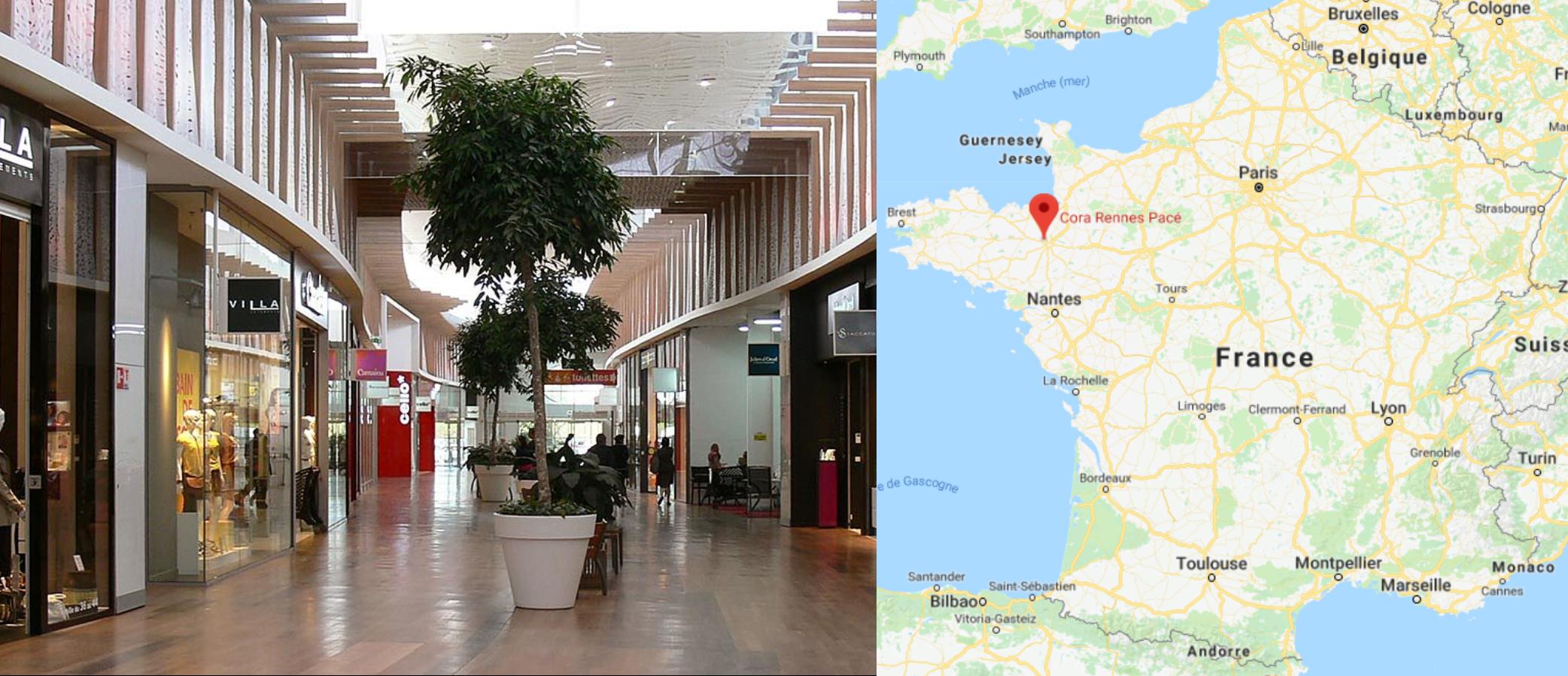 Centre commercial Cora Pacé
