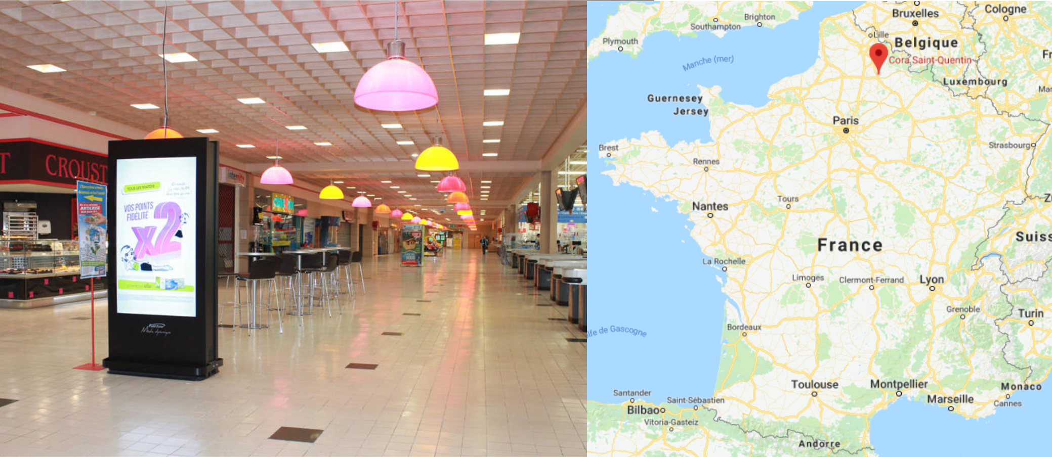 Centre commercial Cora Saint Quentin