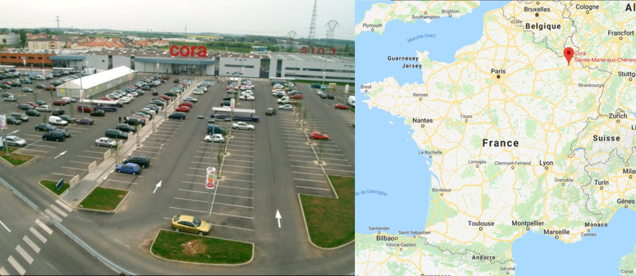 Centre commercial Cora Sainte-Marie-aux-Chênes