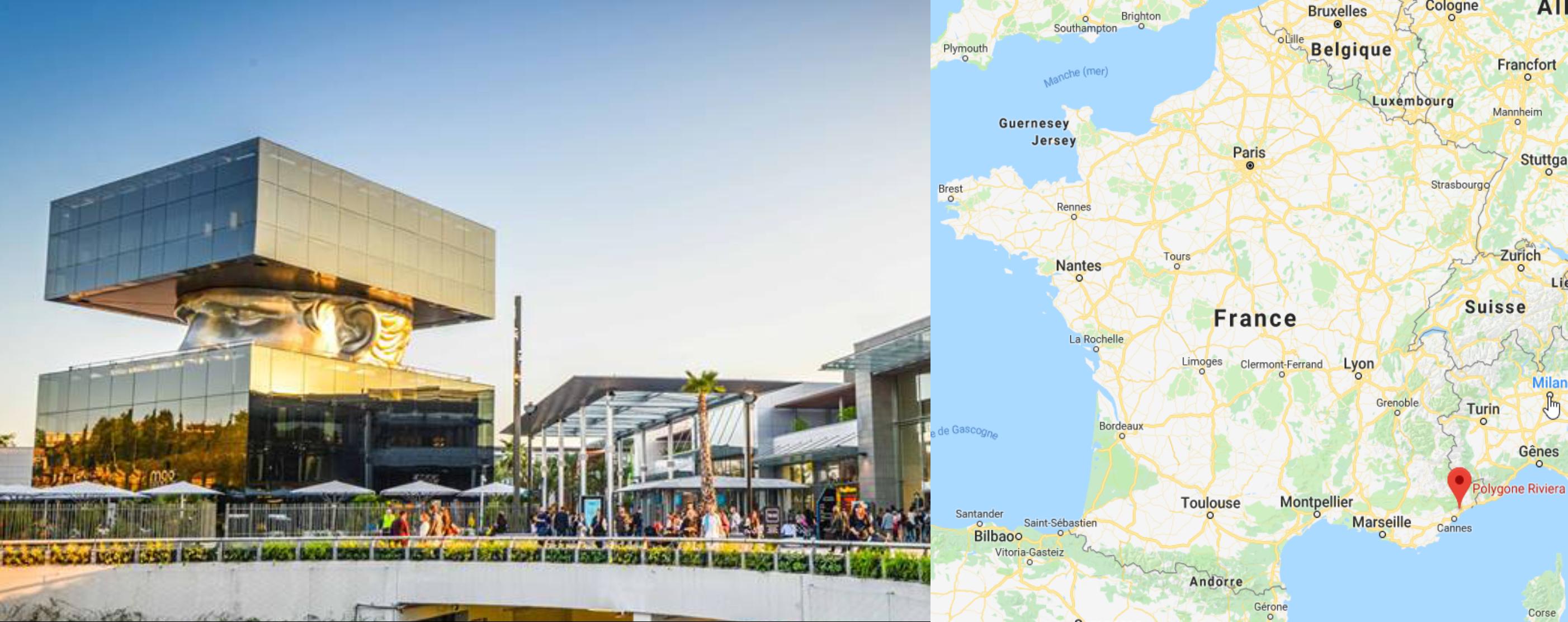 Centre commercial Cagnes Polygones Riviera