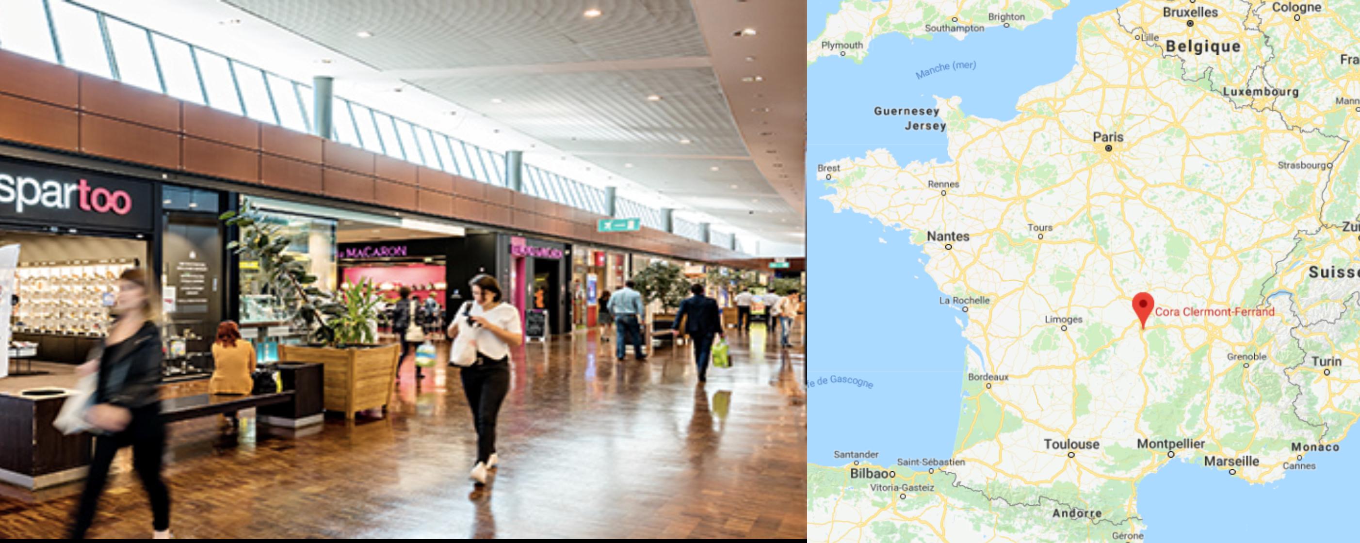 Centre commercial Cora Clermont-Ferrand