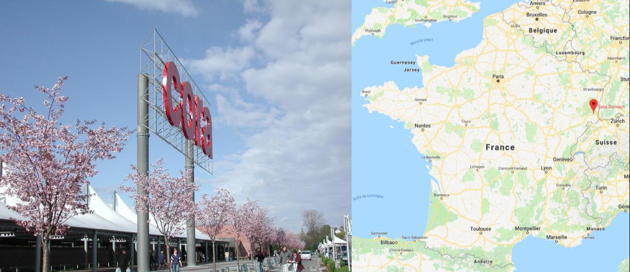 Centre commercial Cora Dornach