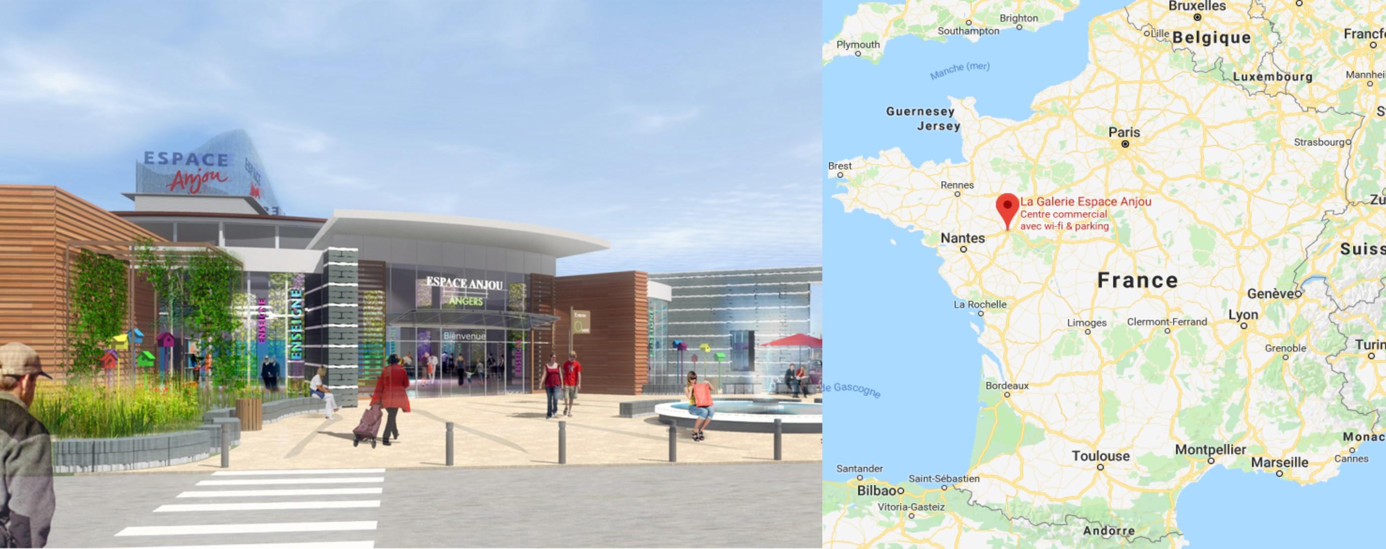 Centre commercial Espace Anjou à Angers