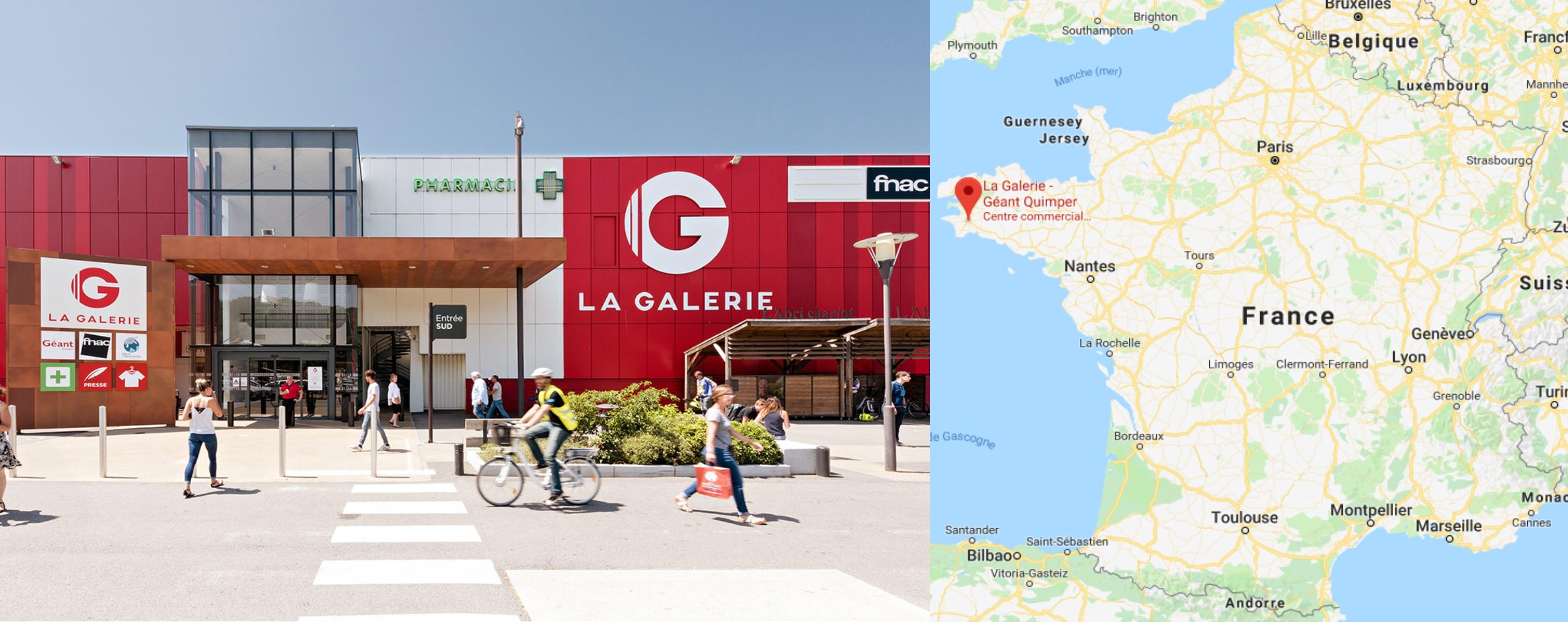 Centre commercial La Galerie Géant à Quimper