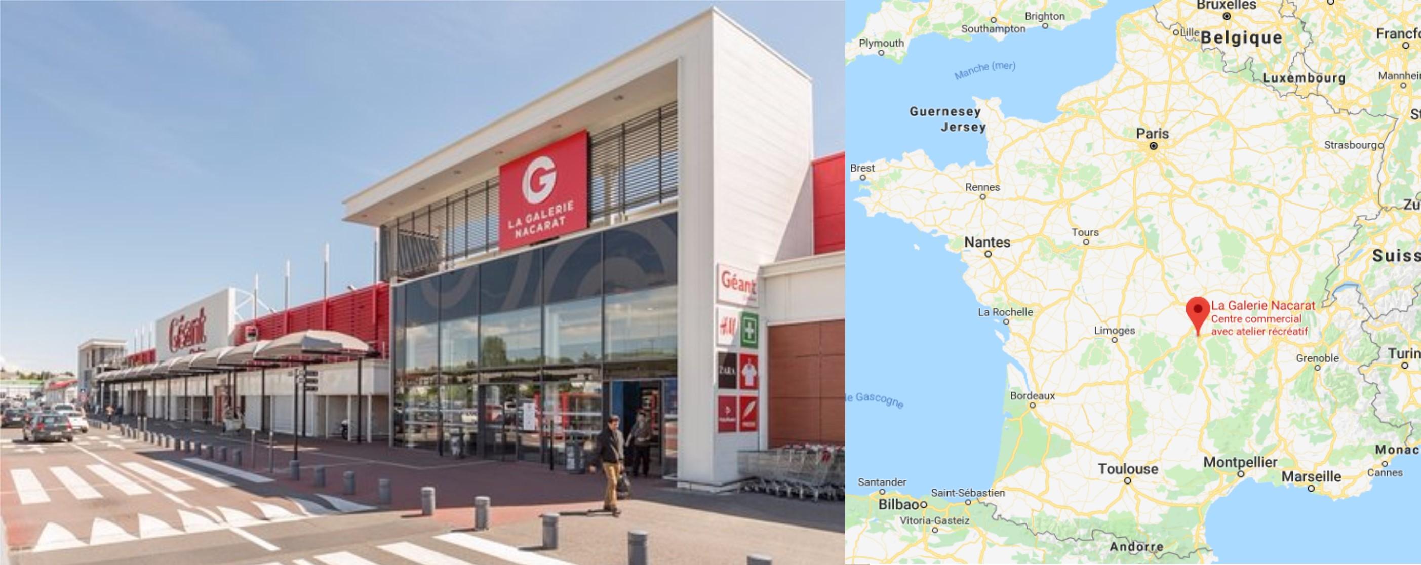 Centre commercial La Galerie Géant Nacarat