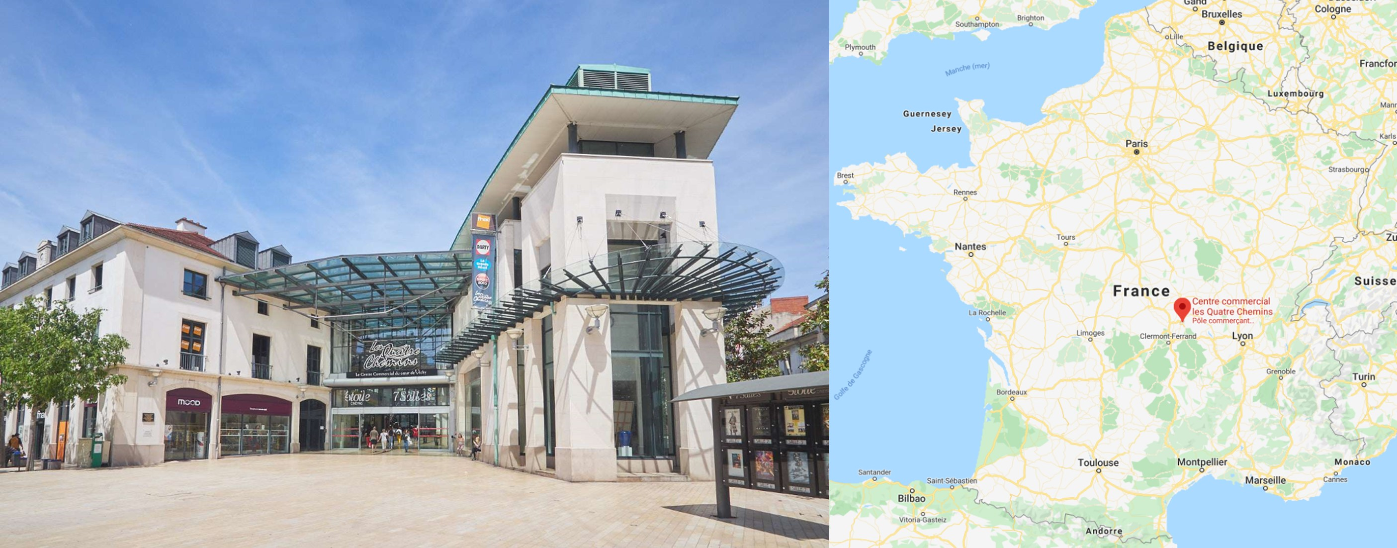 Galerie commerciale Les 4 Chemins à Vichy