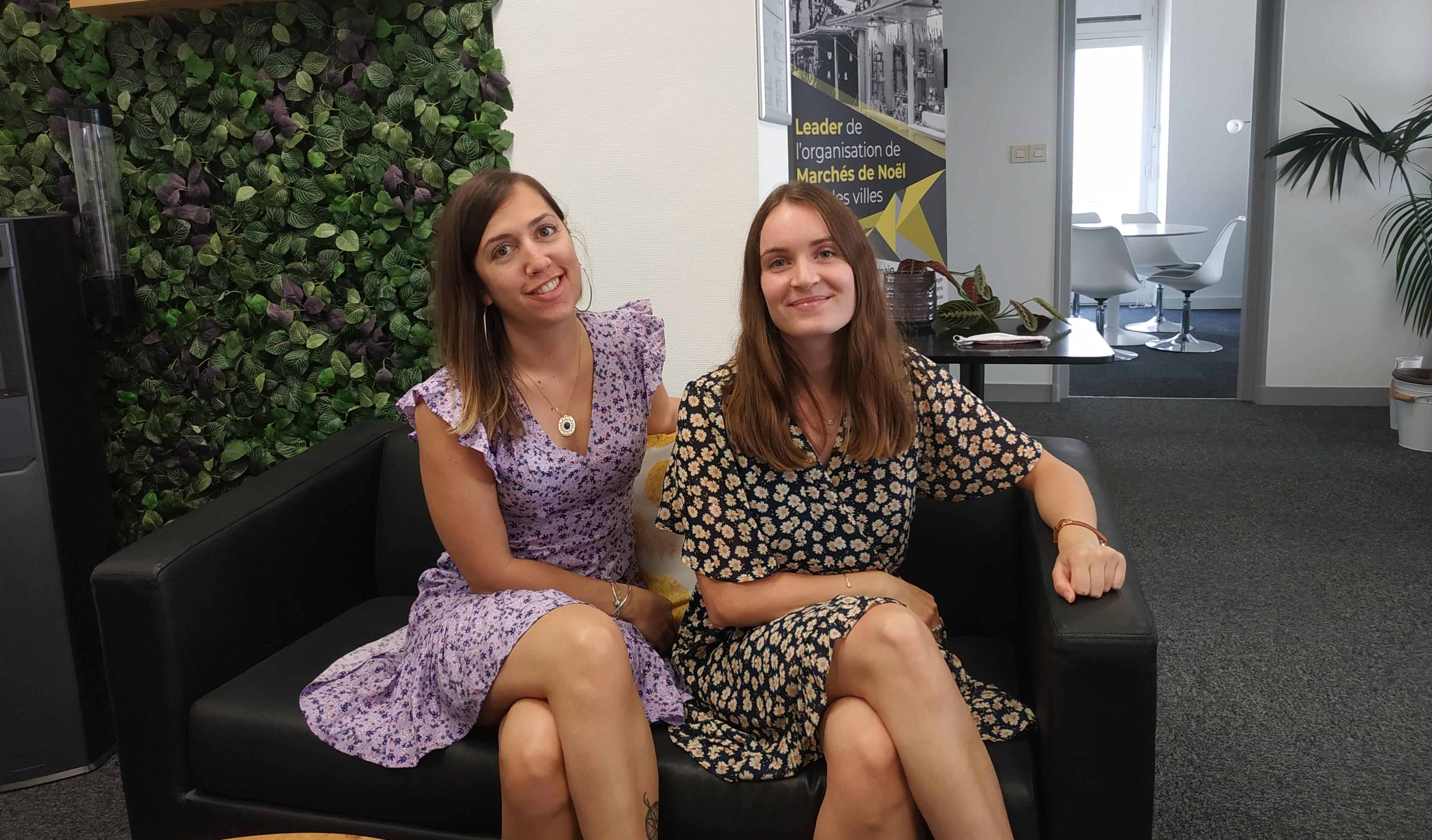 Laureen et Anaïs, nouvelles membres de l'équipe 2A Organisation