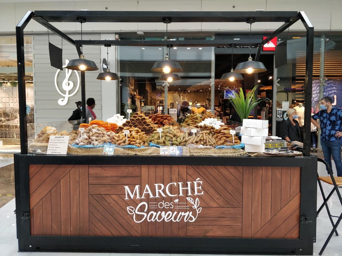 Stand de pâtisseries orientales lors des Villages des Saveurs de Dijon Toison d'Or et Carré Sénart